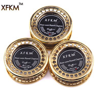 XFKM 5m Roll 4 Core Fused Clapton Heating Wire RDA RTA Atomizer Clapton Wires Premade Coil