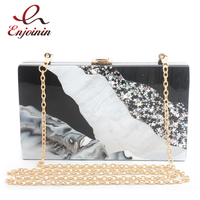 New Fashion Mosaic Wavy Stripes Stars Acrylic Party Wedding Clutches Dinner Bags Shoulder Bags Flap Crossbody Mini Messeng B
