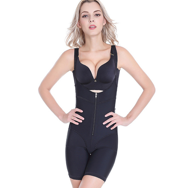 aef222180041b 2017 M-4XL Women s Full Body Shaper Waist Cincher Thigh Reducer Bodysuit  Shapewear seamless medical