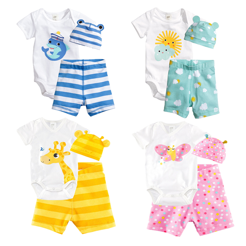 Baby Girl Clothing Sets Summer Baby Rompers Short Sleeve Baby Boy Clothes Cartoon Newborn Baby Clothes Fashion Infant Jumpsuits