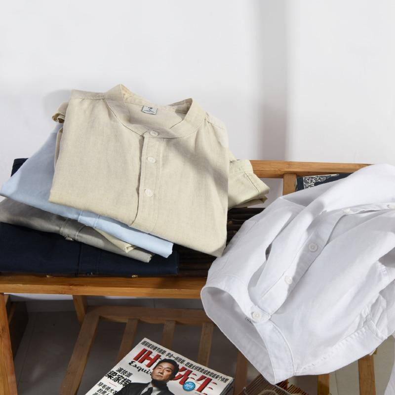 Italia Marca Suehaiwe's Moda Camisa de manga larga Hombre Lino - Ropa de hombre - foto 6