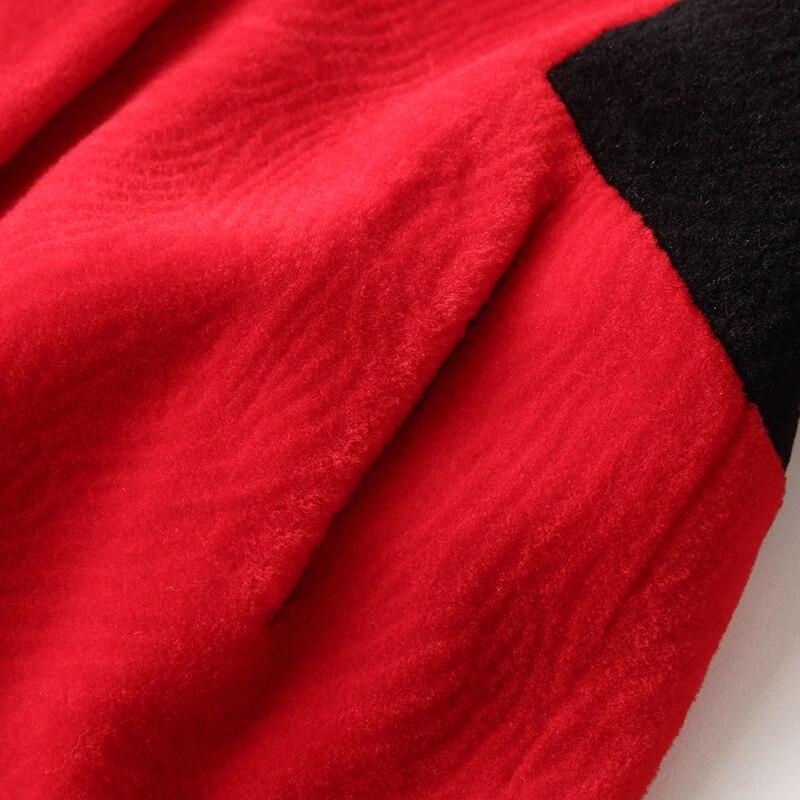 Femmes Rouge De Rouge Vs La Femme Laine D'hiver R Rayé Manteau Manteaux Des Mouton Vraie Fourrure noir Vestes b Veste 1WRntw4f