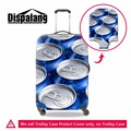 Dispalang Zip-top Can 3D print Luggage Cover Metal Patterns Suitcase Cover Elastic Luggage Protective Spandex Trolley Case Cover