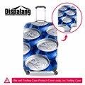 Dispalang Zip-top Puede impresión 3D Cubierta Del Equipaje de Metal Patrones Tapa Maleta de Equipaje Elástica Spandex Carretilla Cubierta Protectora