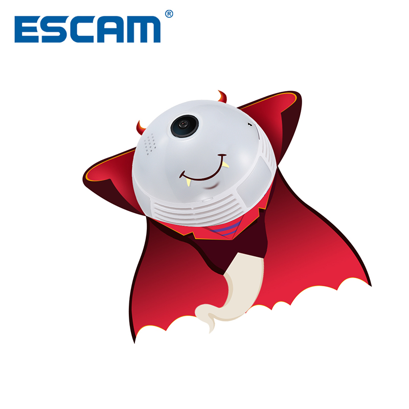 Escam QP136 HD 960P 1.3MP WIFI IP Camera 360 Degree Panoramic H.264 Infrared Indoor Motion Detection Security Camera escam qp136 960p bulb wifi ip security camera 360 degree panoramic h 264 infrared indoor motion detection ip camera