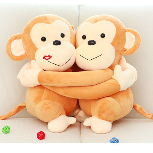 A Pair Hug Sweetheart Monkey Lovers Plush Toy for Girlfriend/Boyfriend 20cm/35cm Kawaii Stuffed Animal Toys Doll for Kids Gift