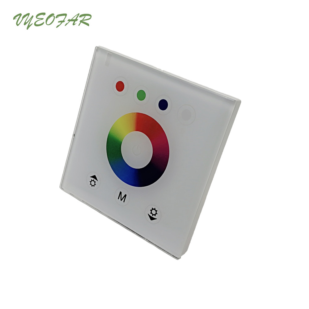 DIY home lighting NEW RGB LED Touch switch Panel Controller led dimmer for DC12V LED strip lights EU 86 Wall Touch Panel