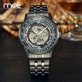 MCE Mens Skeleton Automatic Mechanical Black Luxury sport men male Wrist Watches army NEW Multicolor erkek saat 243