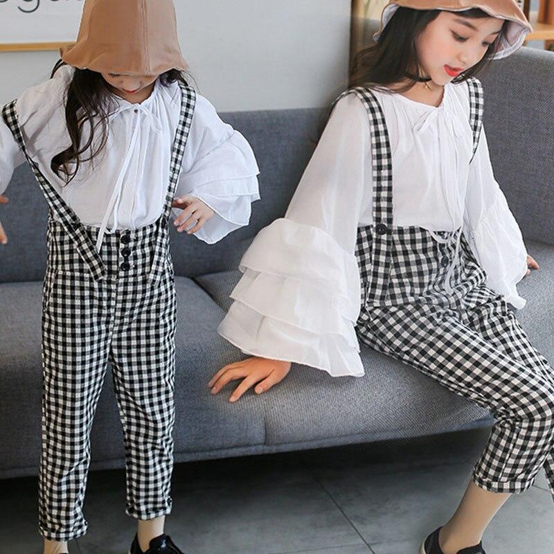 Coton Coton Enfant Combinaison Enfants Filles Pantalon Long Coton Combinaison Enfants Pour Filles Pantalon Printemps Automne Adolescent Vêtements fille