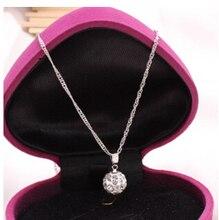 Shamballa Jewelry Pendant Necklaces, White New Shamballa Necklaces Micro Pave CZ Disco Ball Beads, Shamballa Necklaces SHN002 браслет на шнурках clay best crystal hematite shamballa 10 cz shambala shamballa shb069