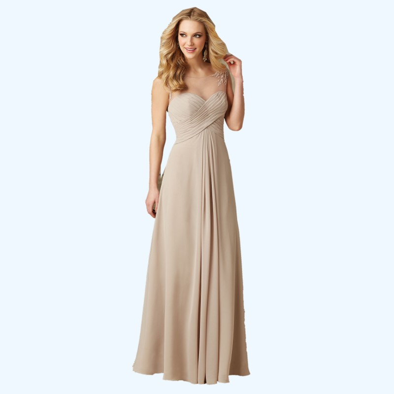 2016 Champagne Cheap Long Bridesmaid Dresses Under 100 A