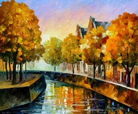 Painting for sale Colorful oil paintings Canvas fall in amsterdam Abstract Modern Wall Art Home Decor High quality Handpainted