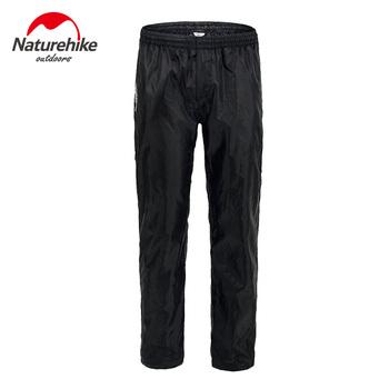 Naturehike Unisex Outdoor podwójny zamek błyskawiczny spodnie przeciwdeszczowe piesze wycieczki wspinaczka wodoodporne spodnie spodnie Campong tanie i dobre opinie Pełnej długości Camping i piesze wycieczki NYLON Sznurek Gore tex NH17C003-K Pasuje prawda na wymiar weź swój normalny rozmiar