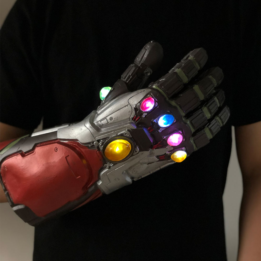 Led Light Iron Man Infinity Gauntlet Avengers Endgame Cosplay Arm Thanos Gauntlet Latex Gloves Arms Superhero Weapon Props New4