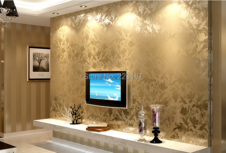 10m*53cm non-woven wallpaper living room wall sticker palace classic bedroom sitting room Europe type style home decor 163 stereo video wallpaper tv setting europe type restoring ancient ways sitting room bedroom non woven wall sticker home decor