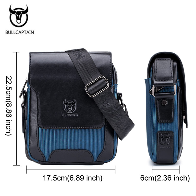 BULLCAPTAIN Cow Leather Men Bag Vintage Style Men 39 s Messenger Bags Male Soft Genuine Leather Cross Body Bags For Men Brand New in Crossbody Bags from Luggage amp Bags