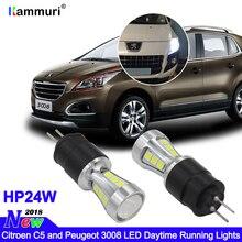 цены white Error free led drl light Hp24w 18smd 12V g4 led Daytime Running Lights bulb for Citroen c5 and peugeot 3008 Day Light 2pcs