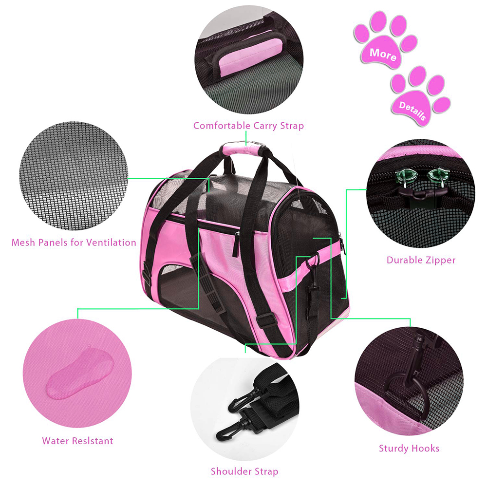 Travel Small Dog Backpack Carrier Handbag 8
