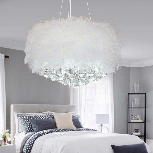 vcreative arts minimaliste jane europ enne chambre plafond lustre plume la lampe lustre en. Black Bedroom Furniture Sets. Home Design Ideas
