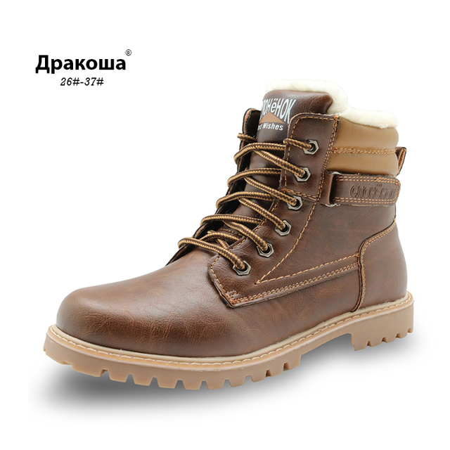 CNOHEHOK children s snow boots boys fashion warm winter waterproof boots  children shoes kids little big boys girls brand boots f322be28630c