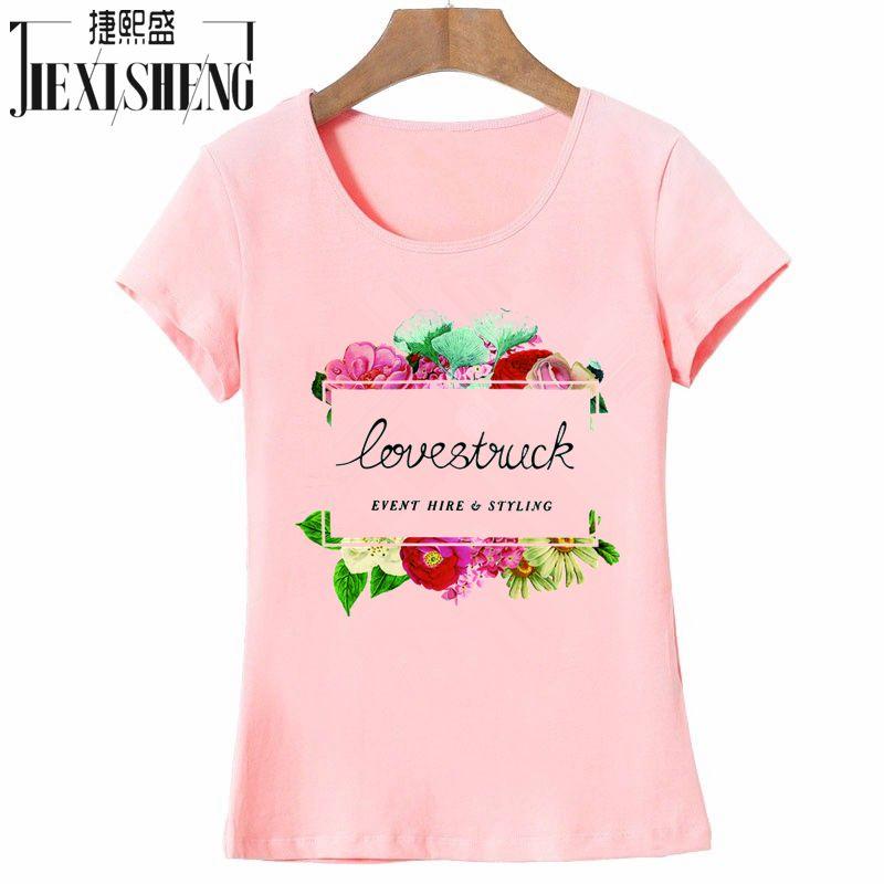 2017 Summer font b Women b font T Shirt Cotton O Neck Short Sleeve T Shirt