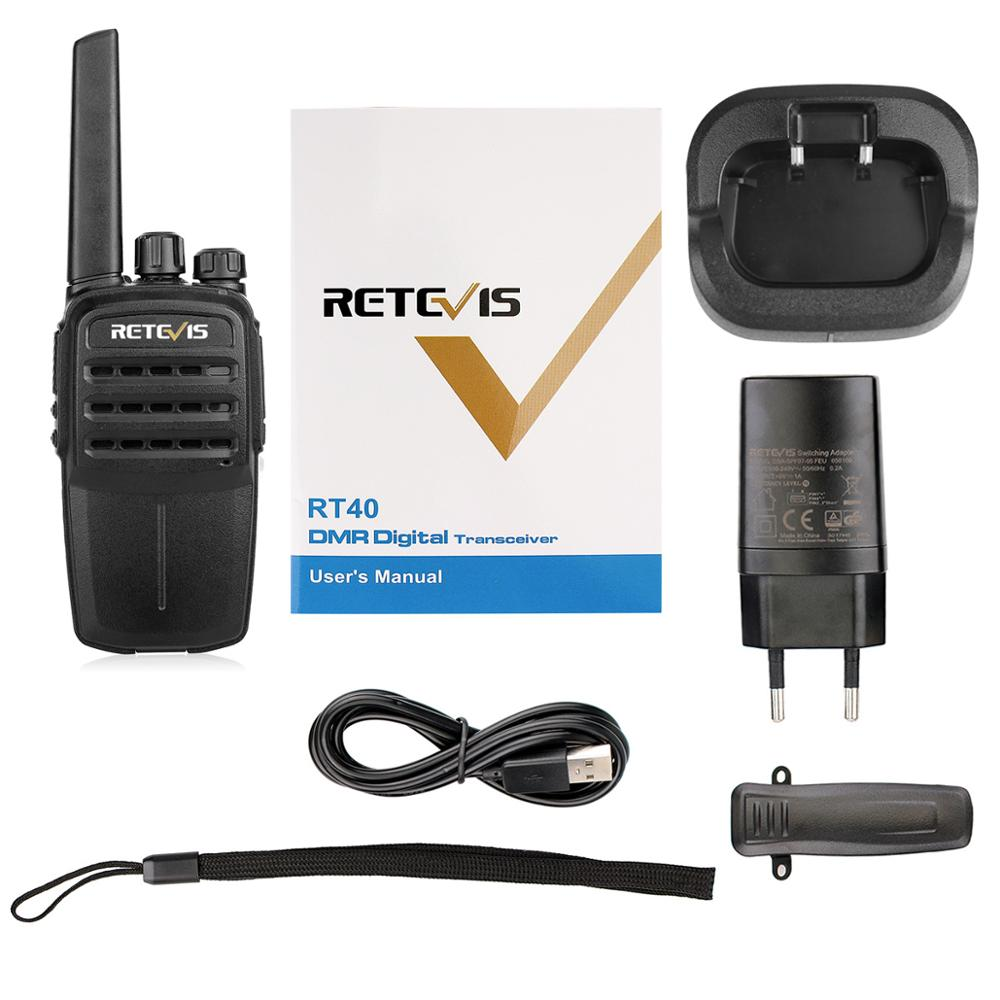 RETEVIS RT40 Licence-free Digital Two Way Radio Portable Walkie Talkie 2pcs DMR PMR446/FRS PMR 446MHz 0.5W For Hotel/Restaurant