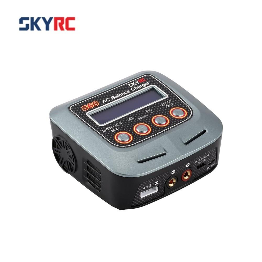 SKYRC S60 60W 100-240V AC Balance Charger/Discharger for 2-4S Lithium LiPo LiHV LiFe Lilon NiCd NiMh PB RC Drone Car BatterySKYRC S60 60W 100-240V AC Balance Charger/Discharger for 2-4S Lithium LiPo LiHV LiFe Lilon NiCd NiMh PB RC Drone Car Battery