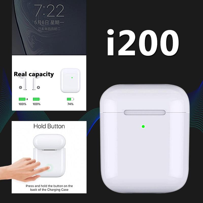 I200 TWS Pop up + fonction tactile + écouteurs de charge sans fil Bluetooth 5.0 capteur intelligent 6D écouteurs de basse PK i10 i80 i90 i100 tws d20