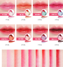 купить Brand l ip gloss l ipstick   8 color gradient color Korean style Two color tint l ip stick lasting waterproof дешево