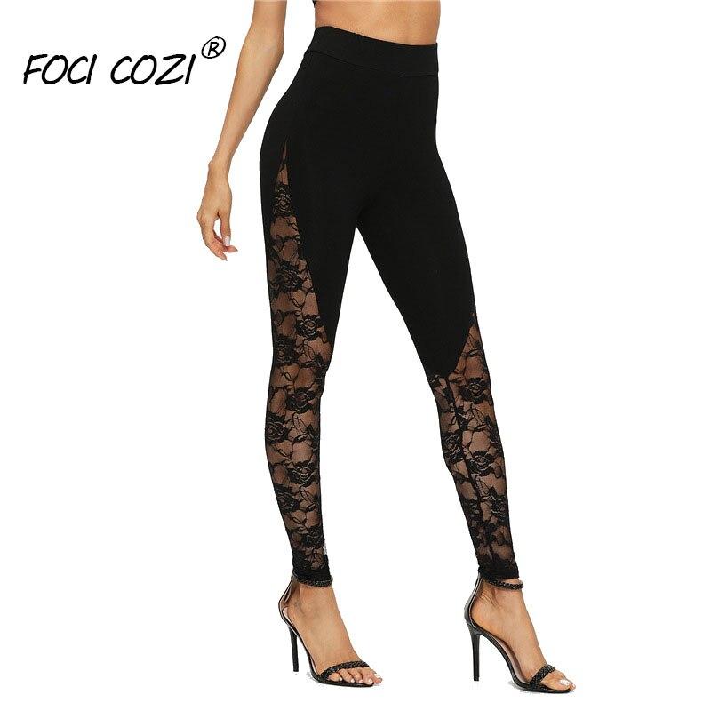 Lace   Leggings   For Fitness Black Leggins Slim Workout Pants Butt Lifting   Leggings   For Women High Waist Transparent   Leggings   Femme