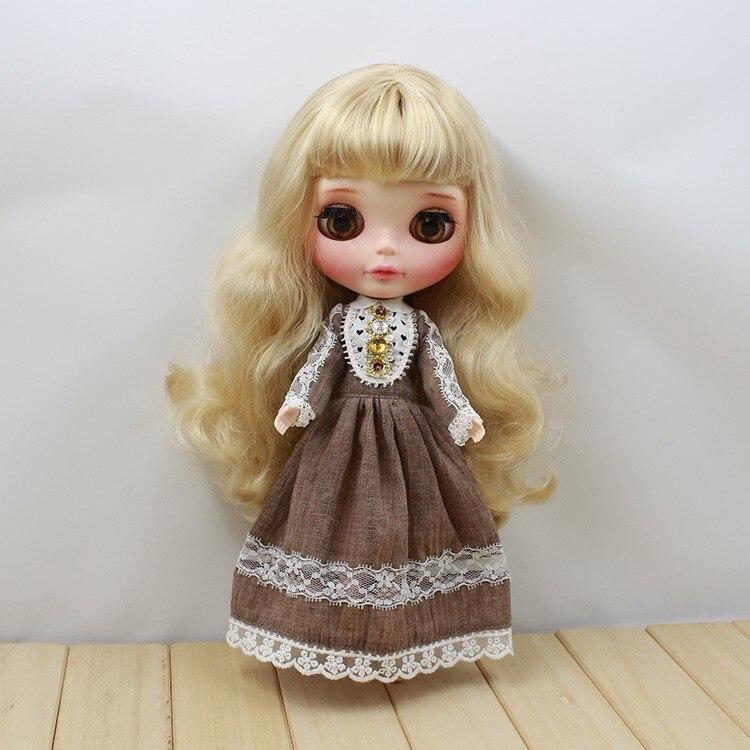 Neo Blythe Doll Retro Mosaic Jewelry Dress 2