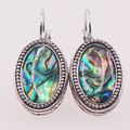 Natural Abalone Shell 925 Sterling Silver Earrings TE413