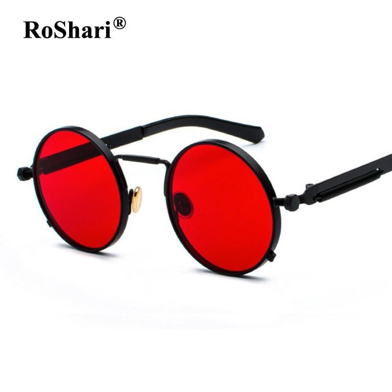 e7cd9b7bc8b Detail Feedback Questions about RoShari Vintage Steampunk Sunglasses women  Coating Round Sun Glasses women Retro Lentes Mirrored UV400 gafas de sol  mujer on ...