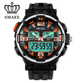 Men LED Swim Waterproof Leisure Electronic Watch Fashion Stopwatch Sport Outdoor  Multifunction Outdoor Dual Display 1360