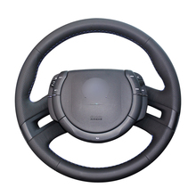Hand stitched Black PU Artificial Leather Car Steering Wheel Cover for Citroen C4 Picasso 2007 2013
