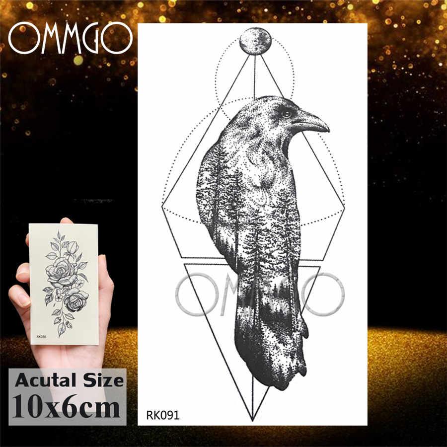 OMMGO 銀河ウルフ虎の三角形のステッカー幾何カスタムタトゥーヘナ部族ボディーアート偽入れ墨女性男性