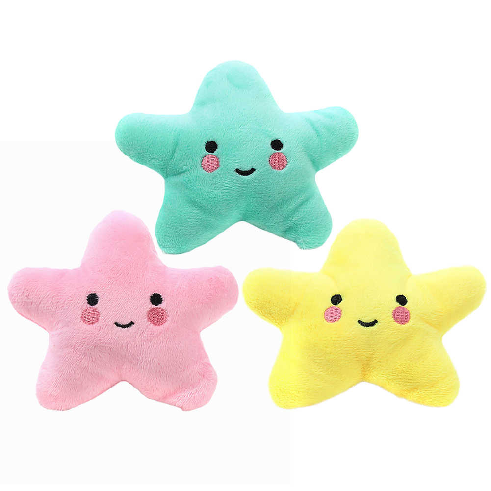Cute Pet Dog Cat Funny Fleece Durability Plush Dog Toys Squeak Chew Sound Toy Fit for All Pets Pig Deer Monkey