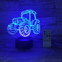 Remote Or Touch Control USB Line Battery Operated Light Creative 3D LED Light Tractor 7 Color