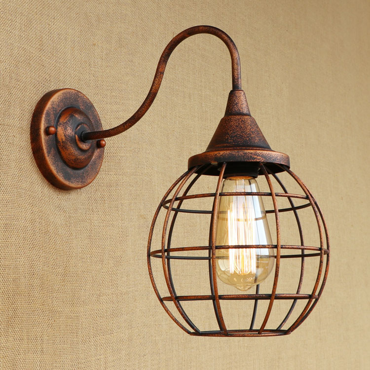 Loft Style Vintage Wall Lamp Iron Bedside Wall Light Fixtures For Living Room Stairs Edison Wall Sconce Indoor Lighting modern lamp trophy wall lamp wall lamp bed lighting bedside wall lamp