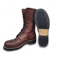 WW2 армии США 101/82 десантников ботинки открытый кожа сапоги коричневый