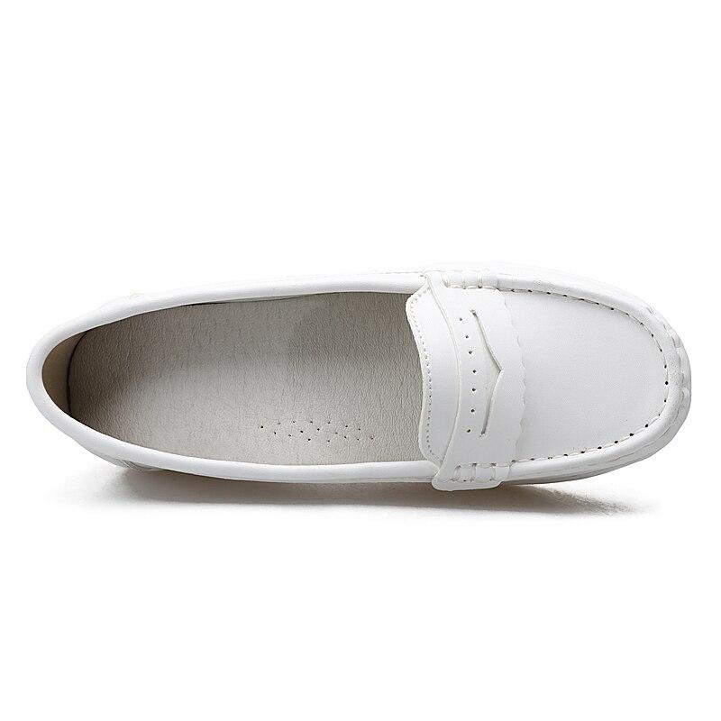 White Caminar 41 Genuino Planos Blancas 3i Grandes Para O16u Ballet Casuales 1188 34 Zapatillas Mujer Más Cuero Mocasines De Zapatos q8apwRT