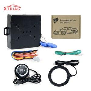 12 В Автосигнализация, кнопка пуска двигателя, кнопка блокировки RFID, переключатель зажигания, без ключа, стартер, противоугонная система