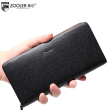 ZOOLER Genuine Leather wallet solid top quality real Leather Wallet High Large Capacity Unique superior soft leather purse#65010