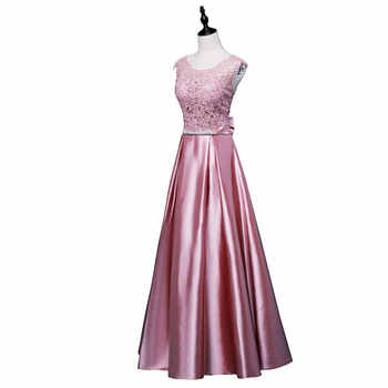 New arrival party evening dresses Long dress Vestido de Festa A-line appliques gown sexy V-opening sexy back prom party frock