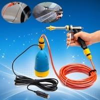 Car Wash 12V 60W High Pressure Car Washer Guns Pump Kit Water Wash Pump Car Van Sprayer Suit Electric Cleaning Auto Device