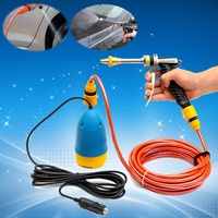 Car Wash 12V 60W High Pressure Car Washer Guns Pump Kit Water Wash Pump Car Van Sprayer Suit Electric Cleaning Auto Device