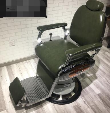 Chaise de salon de coiffure simple haut de gamme salon de coiffure de style moderne chaise de salon de coiffure dédiée marée magasin net chaise de coiffure rouge.
