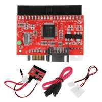 Adaptador de IDE a SATA IDE ATA 3,5 HDD Adaptador convertidor con Cable SATA Cable de alimentación para MAC PC alta velocidad