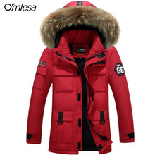 Men Women Lovers Clothes Coats Parkas 2017 New Winter Hooded Jacket Thickened Warm Fur Collar plus size Men's Down Jacket w415