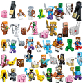 Minecrafted LegoINGlys Zombies Skeleton Compatible LegoINGlys Minifigure Steve Alex Building Blocks Bricks Set Toys For Children